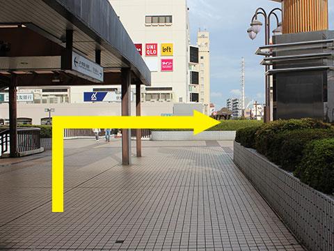 船橋駅北口ペデストリアンデッキ(歩行者回廊)